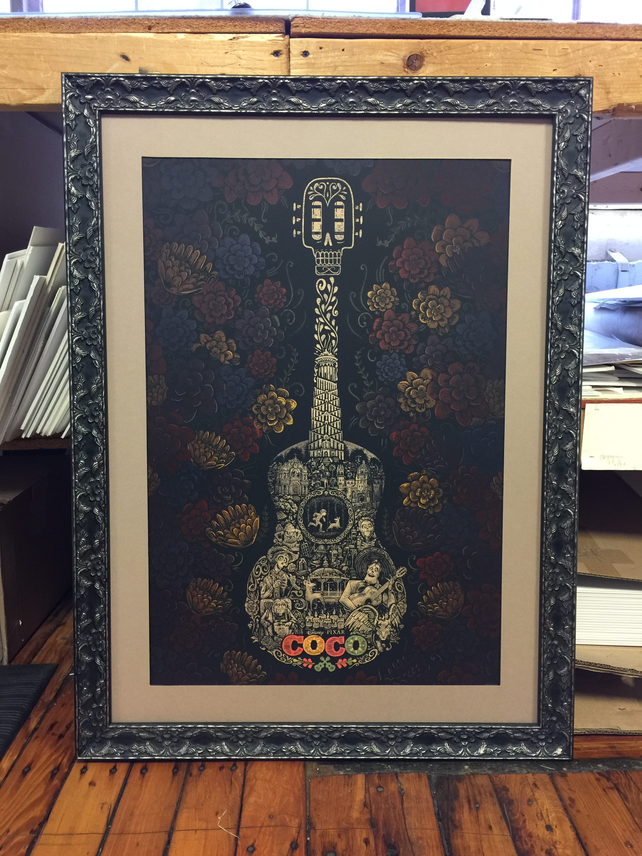 Framing stories framed in time a custom guitar piece we recently designed and framed check out that molding and mat combo jeuxipadfo Gallery